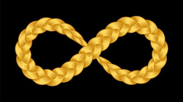 Infinity symbol of ribbon plait