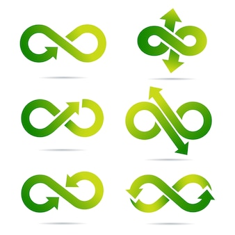 The infinity symbol in the vector