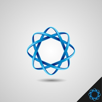 Infinity symbol with 3d style and octagon concept