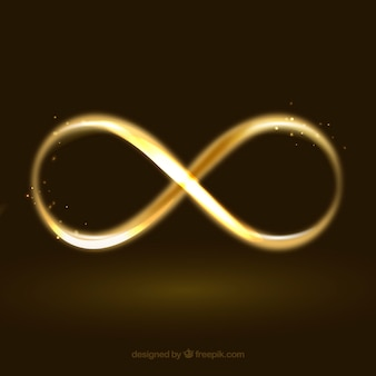 Infinity symbol with glowing effect