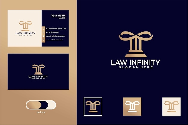 Infinity with legal logo design and business cards