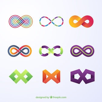 Коллекция символов infinity с цветами