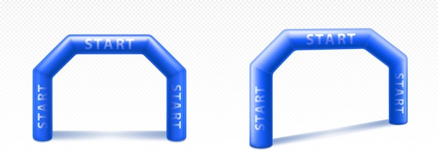 Inflatable arch for advertising, races and events