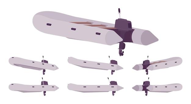 Надувная лодка с подвесным мотором