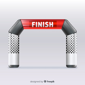 Inflatable finish line arch with realistic design