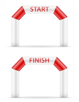 Inflatable line start finish for sport.