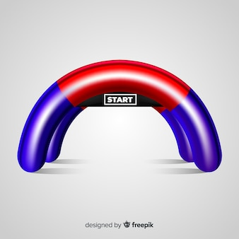 Inflatable start line arch with realistic design