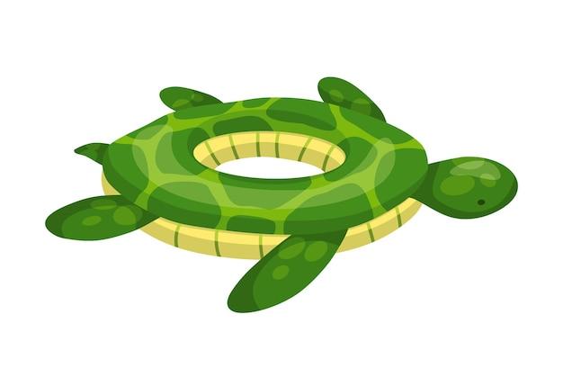 インフレータブル浮き輪。夏休みのためのプールのライフリング。