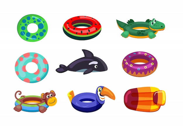 Inflatable swimming set