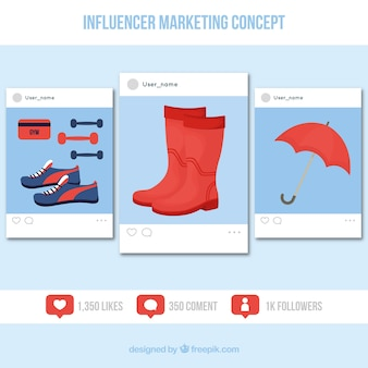Influence marketing design with products