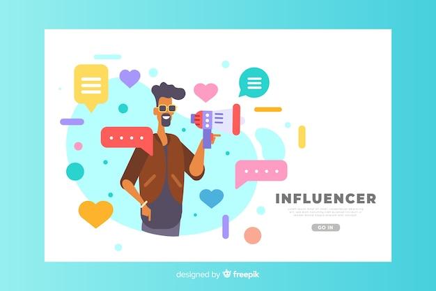 Концепция influencer для целевой страницы