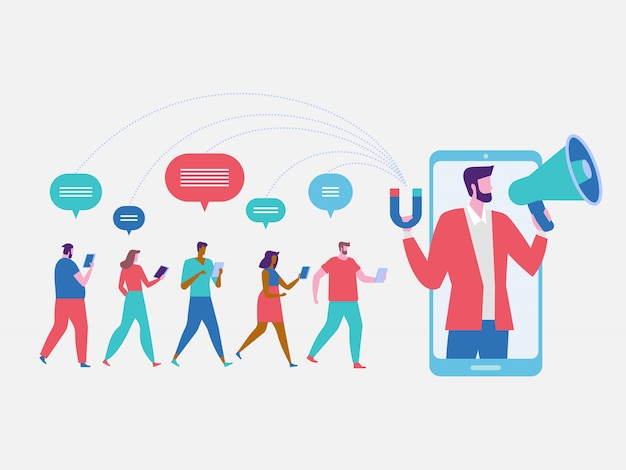 Influencer marketing background