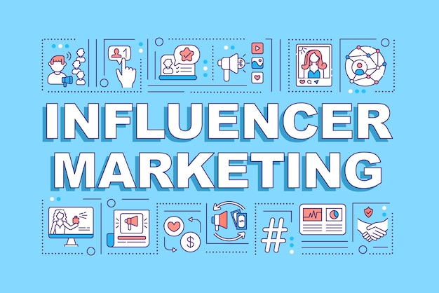 영향력있는 마케팅 단어 개념 배너