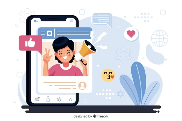 Иллюстрация концепции influencer
