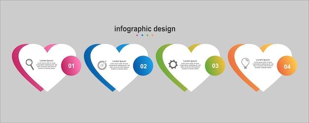 Info graphic design business Premium Vector