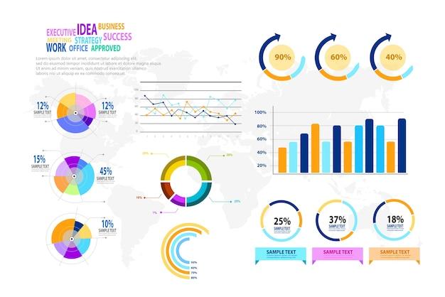 Info graphic design elements big set of modern for web.