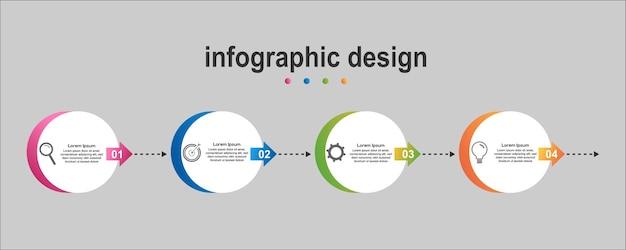 Info graphic diagonal design business new