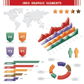 Info graphic elements and communication concept
