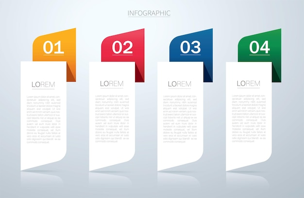 Info graphic vector template with 4 options