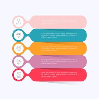 비즈니스 프레젠테이션을위한 정보 그래픽