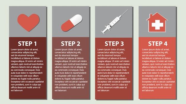 Info graphics of medical set