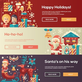 Info poster template with flat design elements and filler text