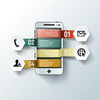 Бизнес-технология info графический шаблон