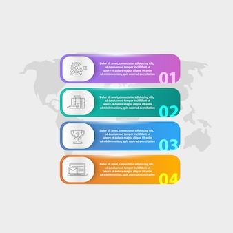 디지털 proects에 대한 infogaphic 비즈니스 개념.
