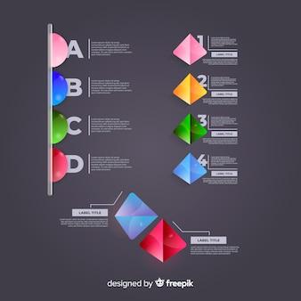 インフォグラフィック要素コレクション