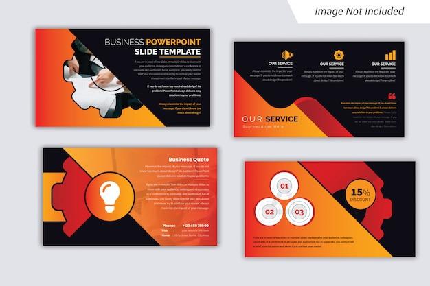 Дизайн шаблона презентации корпоративного бизнеса с infograph.