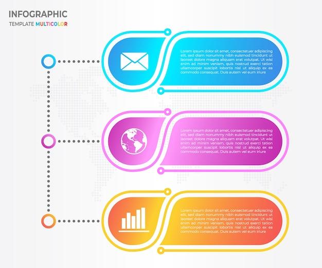 タイムラインinfographic 3つのオプション