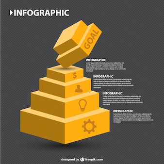 Infographic 3d geometric hierarchy
