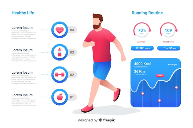 Infographic about health flat design