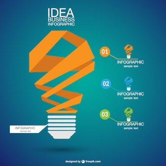 Infographic abstract lightbulb