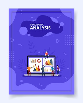Infographic analysis people analytic chart diagram on laptop