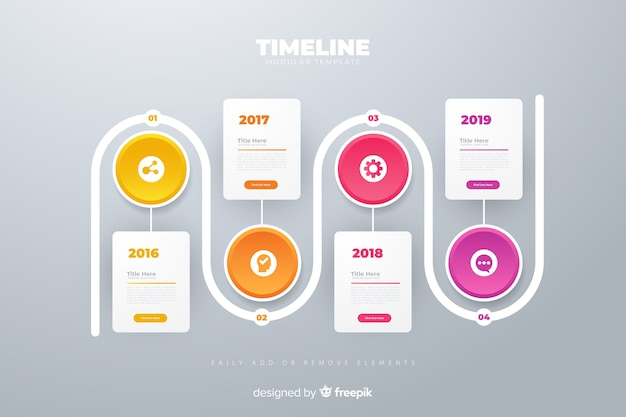 Infographic anual circle charts plan timeline template