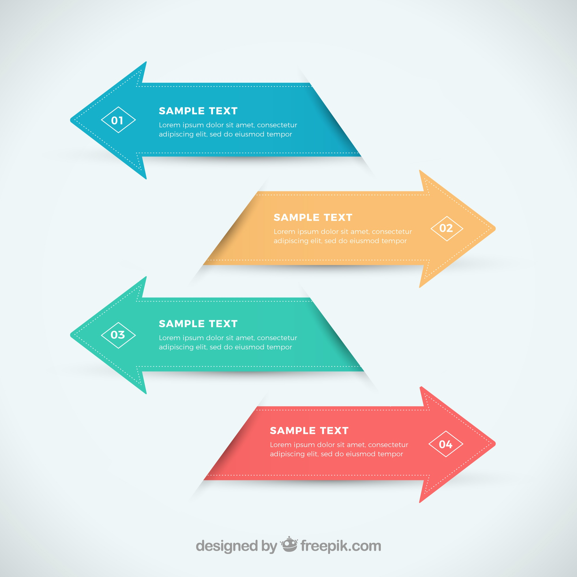 Infographic arrows in flat design