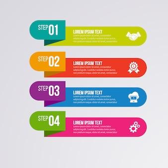 Шаблон шаблона инфографического баннера