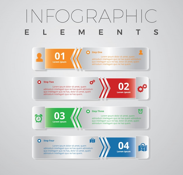 Infographic banner template design