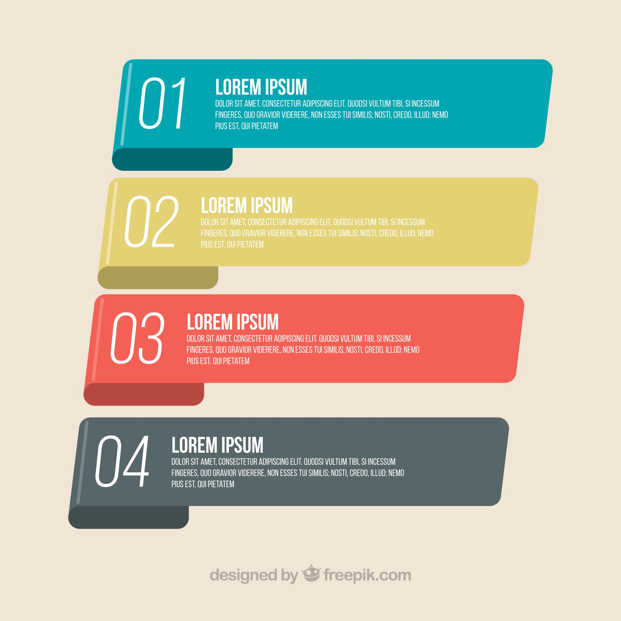 Infographic banners with classic design