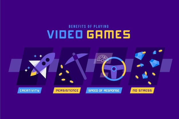 Benefici infografici del giocare ai videogiochi