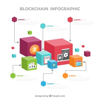Концепция infographic blockchain