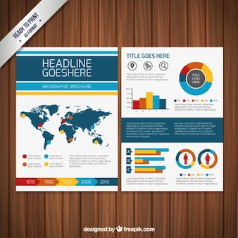 Infographic brochure template Free Vector