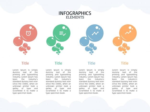 インフォグラフィックバブルテンプレートとスマートなビジネス