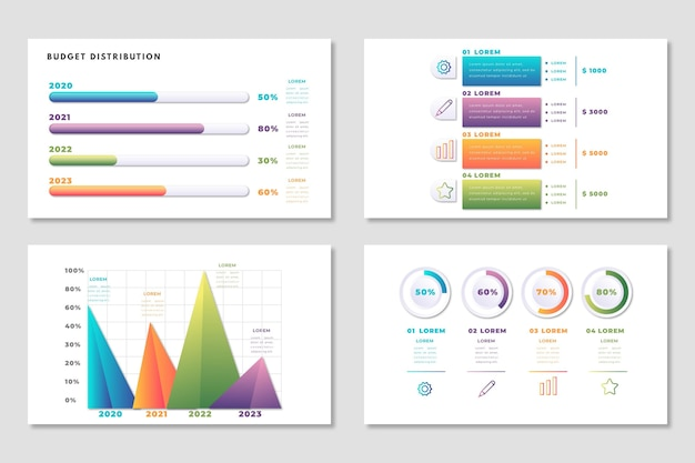 インフォグラフィック予算テンプレート