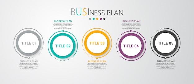 インフォグラフィックのビジネス図と教育図は、研究とともにプレゼンテーションを提示するために使用される手順に従います。