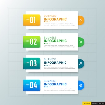 Infographic business banner template design.