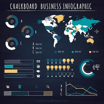 Infographic business charts