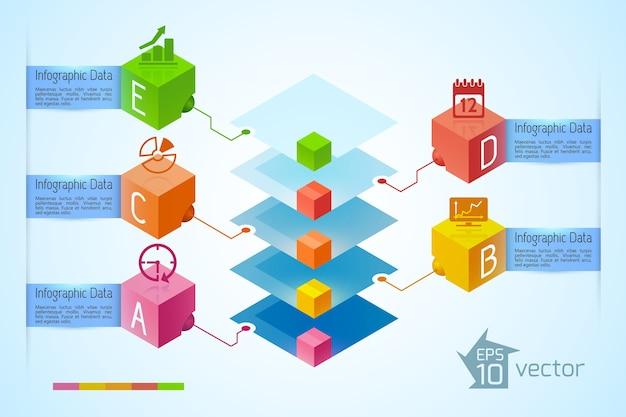 インフォグラフィックビジネスコンセプト
