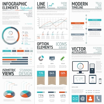Infographic business and corporate analysis vector elements